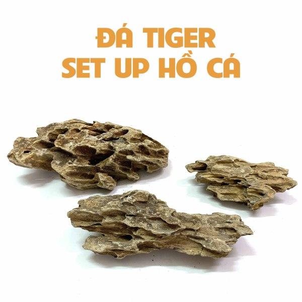 1KG Đá Tiger Setup Hồ Cá Thuỷ Sinh - Đá Tiger Vàng Trang Trí Bể Cá