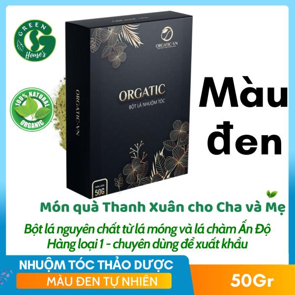 Nhuộm Tóc Thảo Dược OGATIC- Chiết xuất từ bột lá cây- Màu Đen tự nhiên giá rẻ