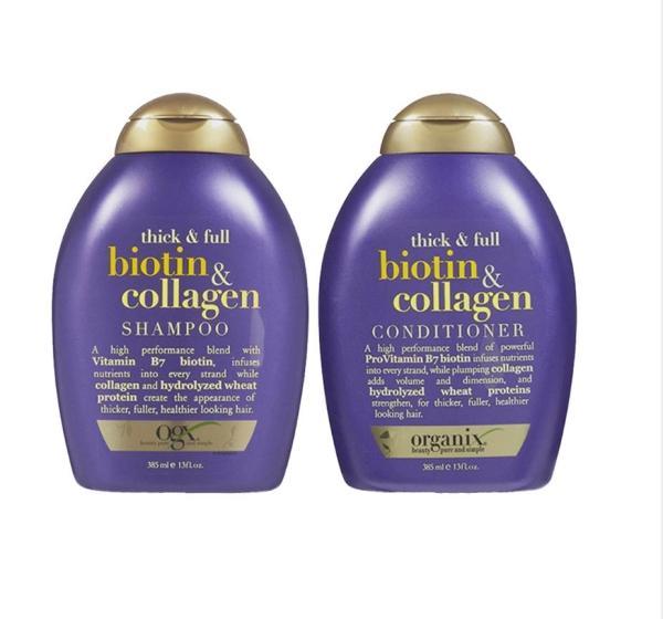 COMBO Dầu Gội và Dầu Xả Bioitin Mỹ- Bộ Dầu Gội Xả Chống Rụng Tóc Biotin Collagen 385ml - HÀNG MỸ tốt nhất