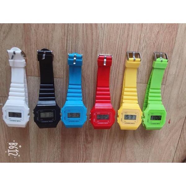 Nơi bán Đồng hồ điện tử unisex dây nhựa CA077 phối theo đồ rất đẹp MS664