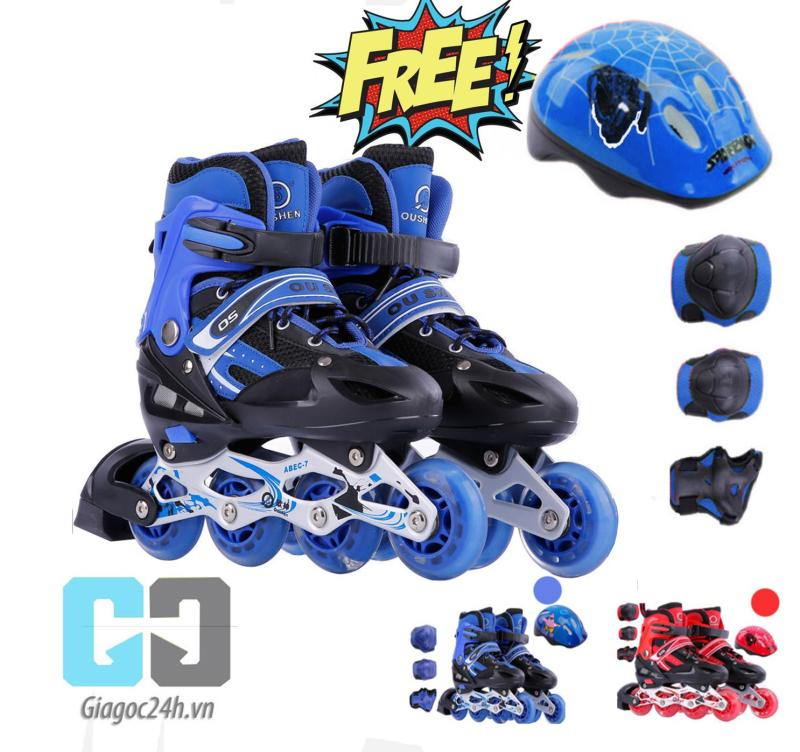 Phân phối Giầy trượt patin cao cấp tặng kèm bộ bảo vệ chân tay và mũ bảo hiểm