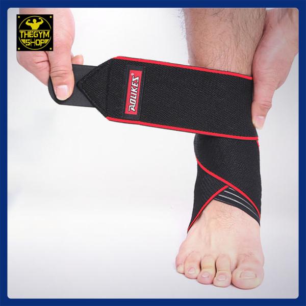 (1 chiếc) Dây quấn bảo vệ cổ chân, mắt cá chân, băng cổ chân, băng bảo vệ cổ chân Aolikes (The Gym Shop phân phối) hỗ trợ tập thể thao, thể hình
