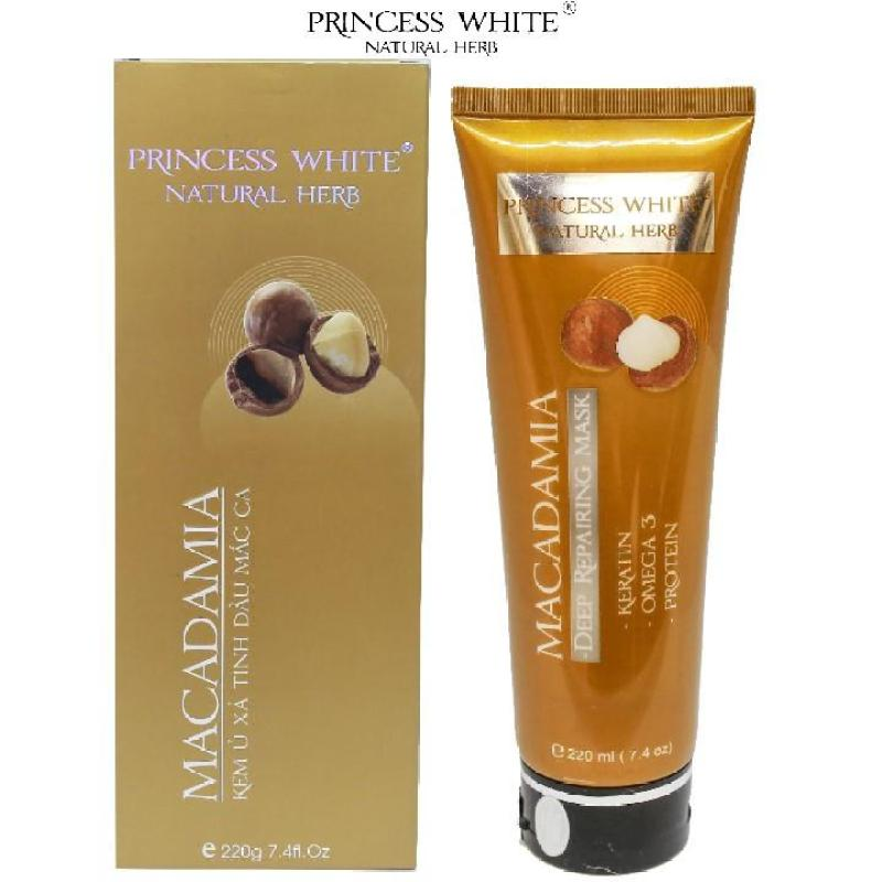 KEM Ủ XẢ TÓC MACADAMIA  PRINCESS WHITE /220ML