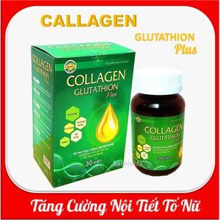 Viên uống đẹp da Collagen Glutathion Plus - thành phần sâm tố nữ, Isoflavons Giúp tăng cường nội tiết tố, hết nám, sạm da, đẹp da thumbnail