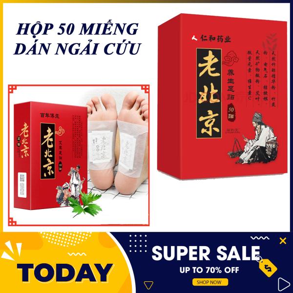 Hôp 50 miếng dán giảm đau - Miếng dán giảm đau - Hộp 50 Miếng Dán Ngải Cứu Thải Độc Chân Lão Bắc Kinh Thải Độc Tố Qua Gan Bàn Chân Xoa Dịu Cơn Đau Nhức Xương Khớp