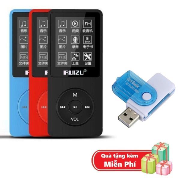 ( Quà tặng Đầu đọc thẻ nhớ đa năng ) Máy nghe nhạc mp3 Ruizu X02 bộ nhớ trong 8G hỗ trợ thẻ nhớ lên đến 64G cao cấp