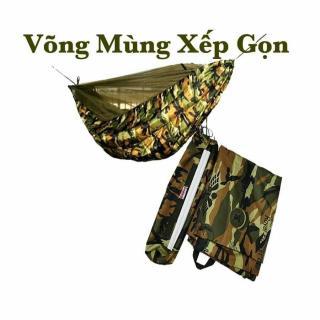 (Hàng cao cấp)Võng dù lính Mỹ có mùng 2 in 1,Võng Dù Du Lịch 2 Lớp Có Mùng Chống Muỗi Và Côn Trùng tiện lợi có túi đựng khi đem theo cho các phượt thủ. thumbnail