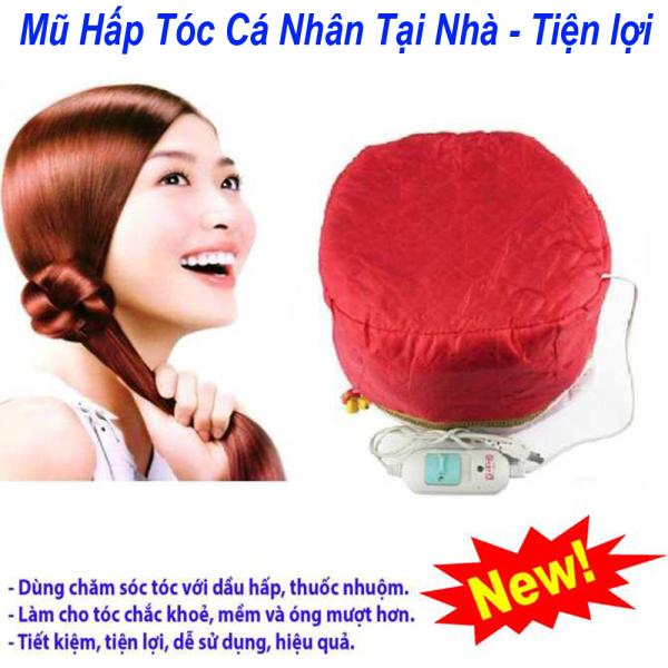 Mũ hấp tóc điện cá nhân, mũ ủ hấp tóc tại nhà tiện lợi, thiết kế hai lớp tăng hiệu quả dưỡng tóc, điều khiển chỉnh nhiệt độ đa nấc, bảo hành lâu dài nhập khẩu