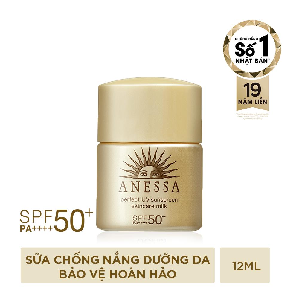 Sữa chống nắng bảo vệ hoàn hảo Anessa Perfect UV Sunscreen Skincare Milk 12ml