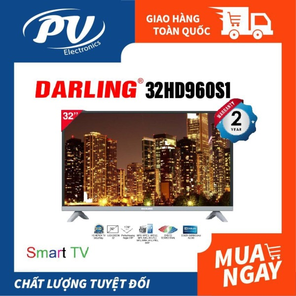 Bảng giá Smart Tivi Darling 32 inch Kết nối Internet Wifi Model 32HD960S1 / 32HD966S (mẫu nâng cấp của 32HD960S, HD Ready, Android 8.0, Youtube, Truyền hình KTS DVB-T2, Dolby Audio, màu đen) - Tivi giá rẻ - Bảo hành toàn quốc 2 năm