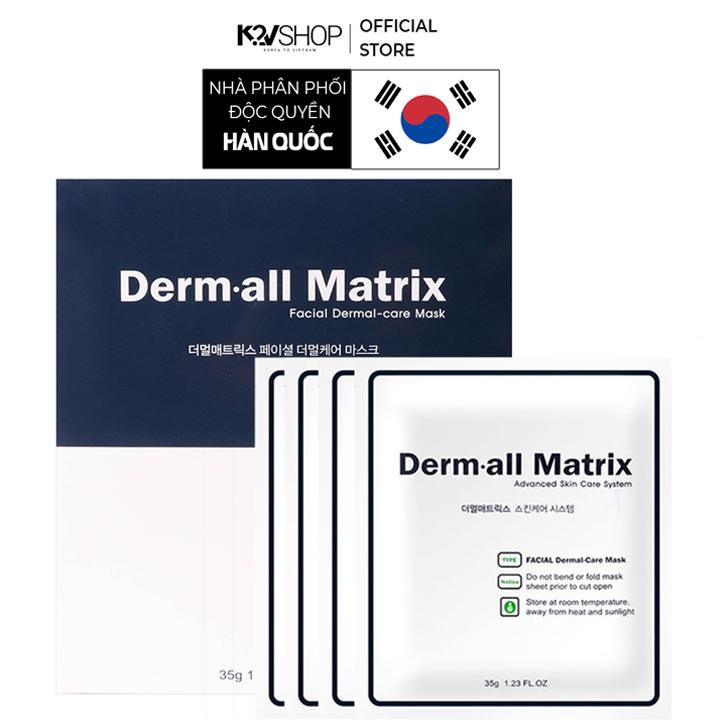 Mặt nạ Derm all Matrix collagen dưỡng trắng da, căng da, chống lão hóa 35g [K2V Shop]