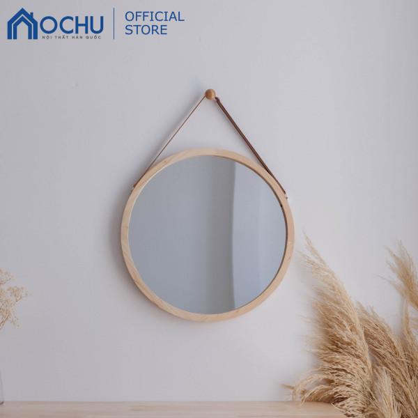 Gương Tròn Treo Tường Khung Gỗ OCHU - Mirror Circle 50