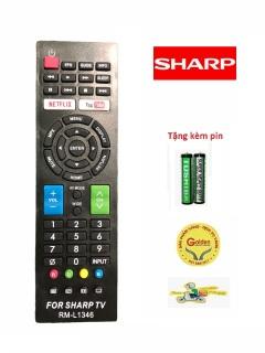 Điều khiển tivi SHARP RM-L1346 Smart internet-tặng kèm pin dung lượng cao -Remote SHARP L1346 hàng chất lượng cao thay thế hoàn toàn cho khiển zin theo máy thumbnail