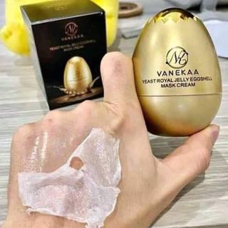 Mặt nạ quả trứng dưỡng da căng bóng vanekaa yeast royal jelly egg shell mask cream thumbnail