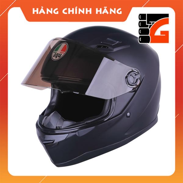 Mũ Bảo Hiểm Full face AGU đen nhám - Tặng túi đựng  - Bảo hành 12 tháng