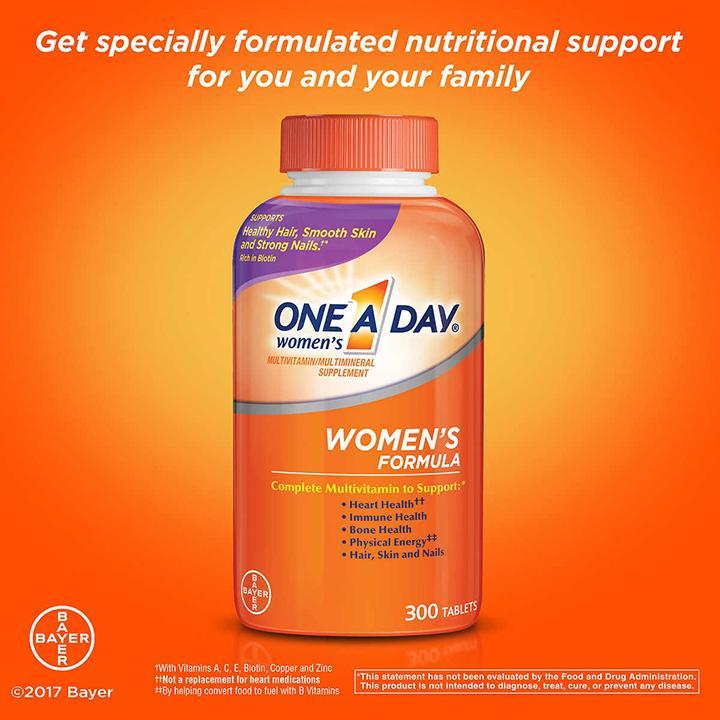 One A Day Vitamin Cho Nữ Dưới 50 Tuổi 300 Viên