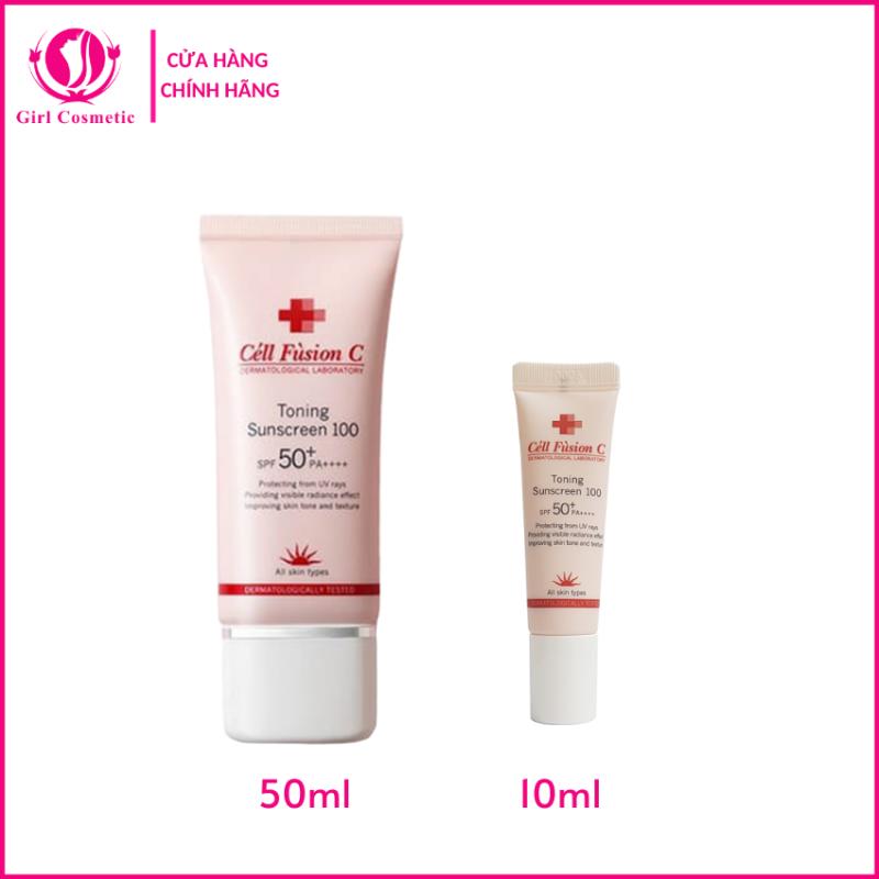Kem chống nắng - Kem chống nắng Cell Fusion C Toning Sunscreen 100 nâng tông da, phù hợp với mọi loại da, dưỡng ẩm chống nắng tối đa