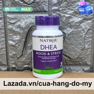 Viên uống Natrol DHEA Mood & Stress 50mg 60 viên của Mỹ - Cân bằng nội tiết tố cho phụ nữ 50 mg thumbnail