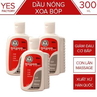 Bộ 3 Dầu nóng Xoa Bóp Hàn Quốc Antiphlamine 100ml - Đau nhức xoa bóp massage cơ thể - Yesshop thumbnail