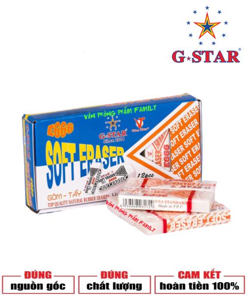 Mua Bộ 12 cục gôm lớn màu trắng G-STAR được làm bằng cao su tự nhiên, dẻo dai, có độ đàn hồi tốt