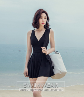 Bikini Đồ Bơi 1 Mảnh Cổ Chữ V Phong Cách Hàn Quốc thumbnail