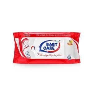 Khăn ướt Baby Care 30 tờ - Mùi phấn, kháng khuẩn, tinh chất lô hội dưỡng da thumbnail