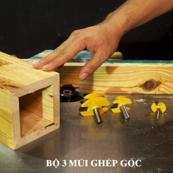 Mũi Ghép Góc Vàng - Mũi Ghép Góc Vàng Vinachi chuyện dụng cho các sản phẩm cắt sâu, không bám gỗ giúp đẩy mũi khoan nhẹ nhàng