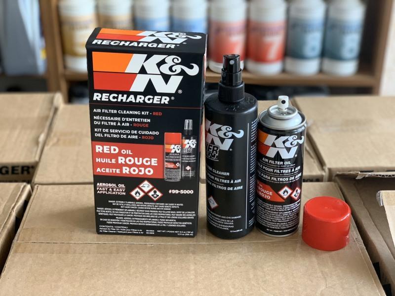 (Chai dầu dạng xịt) Bộ vệ sinh lọc gió KN chai tẩm dầu dạng xịt mã K&N 99-5000 (Thay thế bộ 99-5050)