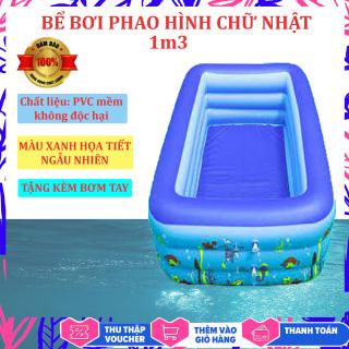 Bể bơi bơm hơi cỡ lớn tặng kèm bơm - 3 loại 1m3 1m8 2m1 - Thành cao chất liệu nhựa dày dặn đàn hồi tốt , Thiết kế 3 tầng chịu lực tốt , Dễ dàng gấp gọn khi không sử dụng - Bể boi gia đình - Bể bơi phao 3 tầng - Yenny thumbnail
