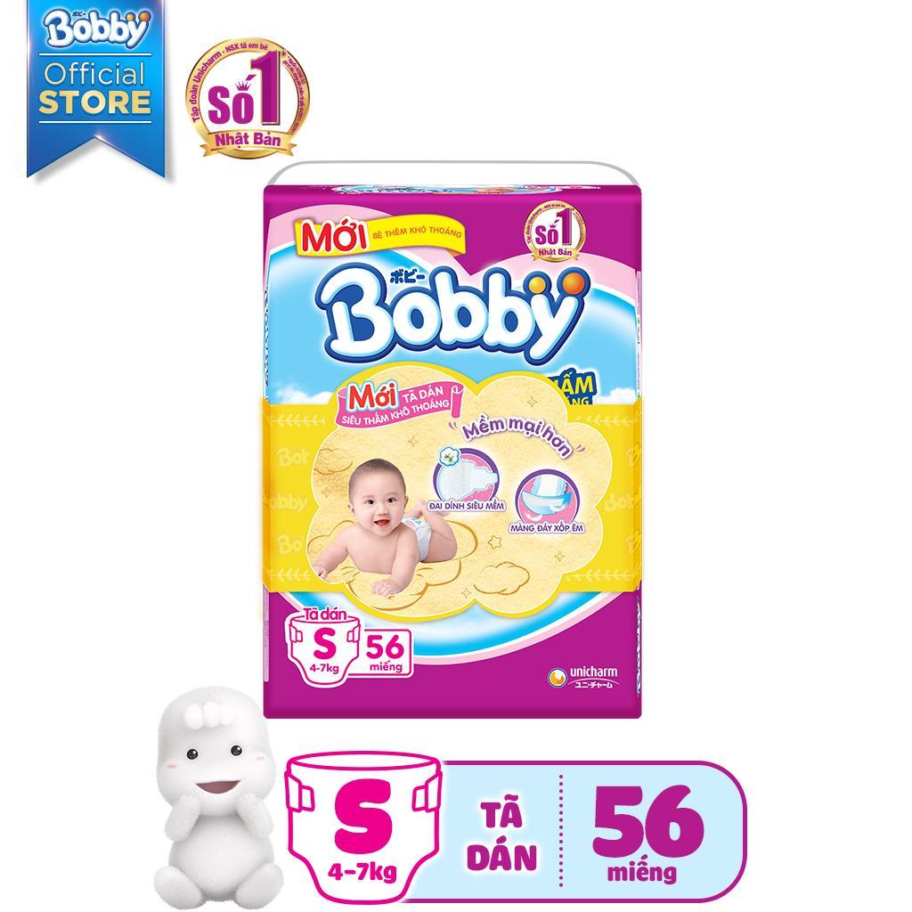 Tã dán siêu mỏng thấm Bobby size S - 56 miếng (4-7kg)