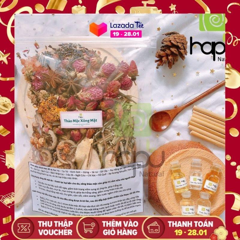 Thảo Mộc Xông Mặt Nhà Làm Hapu Organic Đẩy Mụn Ẩn, Giảm Các Loại Mụn, Dưỡng Da, Thanh Lọc Cho Da, Tẩy Tế Bào giá rẻ