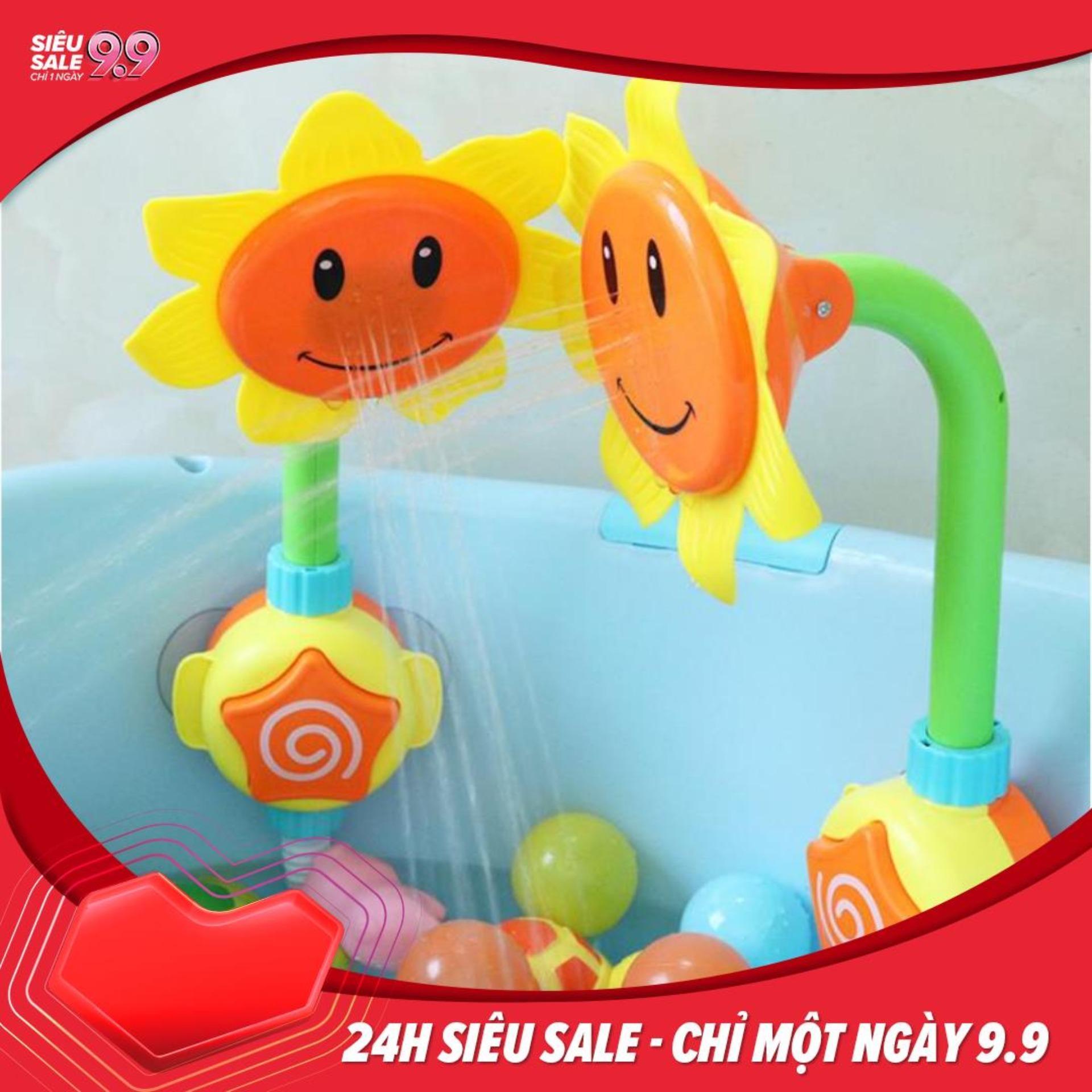 Vòi sen Hoa Hướng Dương đồ chơi nhà tắm cho bé Nhật Bản