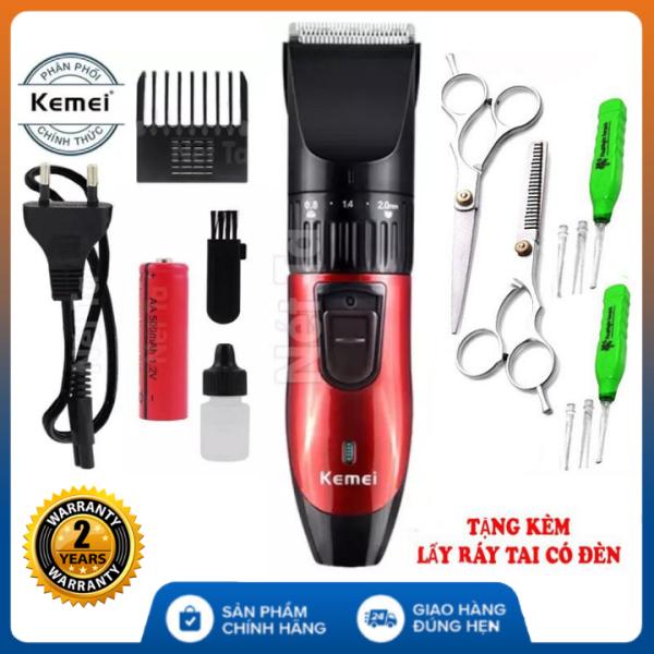(Bảo hành 12 tháng -Tùy Chọn kèm kéo và lấy dáy tai) Tông đơ cắt tóc gia đình Kemei KM-730 sạc điện - tông đơ cắt tóc người lớn , tông đơ cắt tóc kemei , tông đơ cắt tóc loại tốt