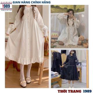 đầm babydoll hàn quốc -váy cổ bèo dáng dài VH54-DÀI đầm nữ ,đầm bánh bèo kute ,váy tiểu thư sang chảnh dễ thương điệu đà kute ,vintage ulazzang ,thời trang 1989 thumbnail