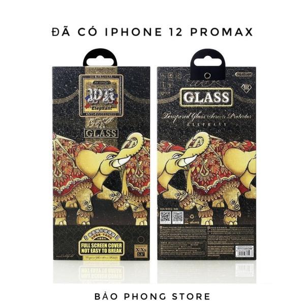 Kính cường lực Voi iPhone hộp sắt WK Elephant , không hộp trần , dán full màn hình cho IP 6 Plus 7 8 X XS Max 11 12 Pro