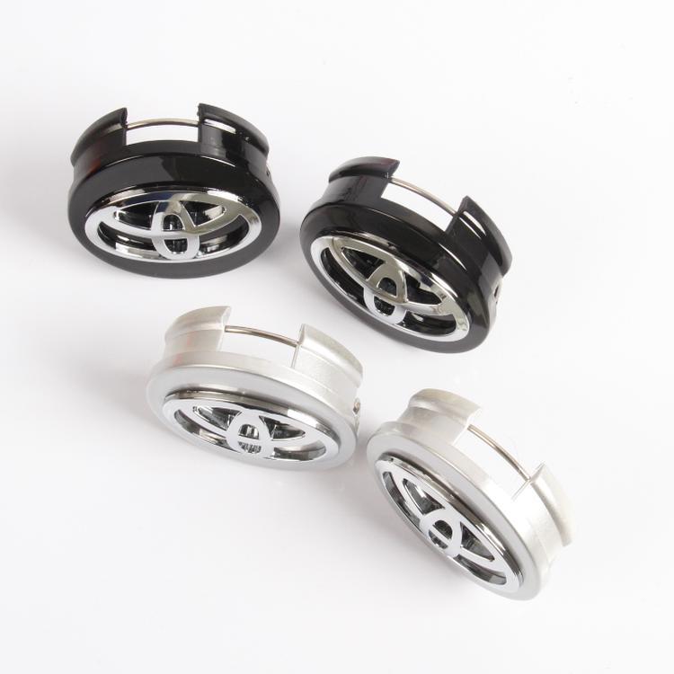 1 chiếc Logo chụp mâm, ốp lazang bánh xe ô tô, xe hơi nhãn hiệu Toyota đường kính 62mm ( Màu bạc) - 1