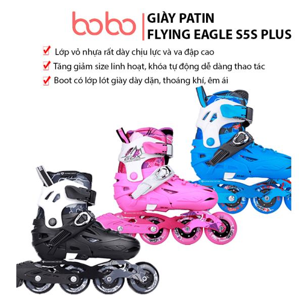 Giá bán Giày trượt patin trẻ em, giày trượt patin Flying Eagle S5S Plus Fullbox 3 màu lựa chọn, tặng cốc tập trượt patin, giày patin trẻ em, giày patin flying eagle, Flying Eagle S5S, giày trượt patin người lớn, giày batin