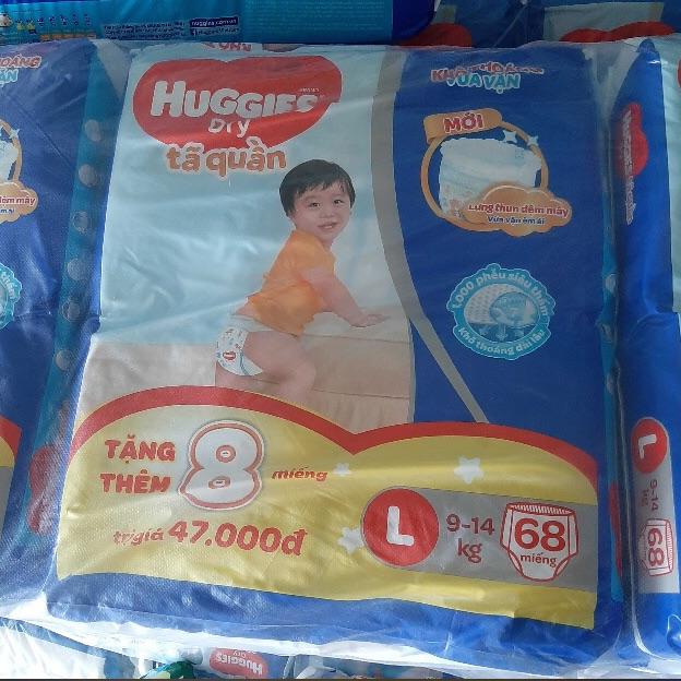 Mã Giảm Giá tại Lazada cho Bỉm Quần Huggies Size L68 Tặng 8
