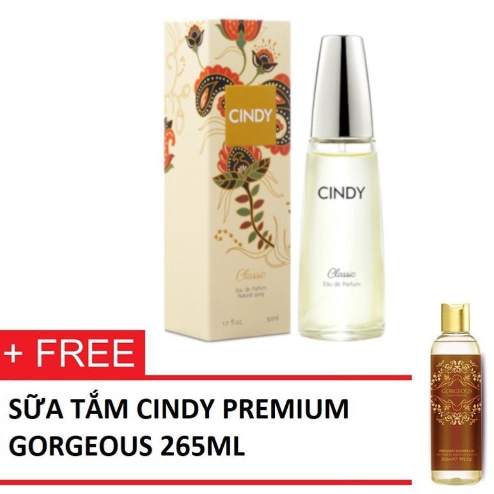 Nước hoa Cindy Classic 50ml + TẶNG KÈM Sữa tắm Cindy Premium Gorgeous 265ml