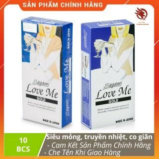 [HCM][ XẢ HÀNG ] - Bao cao su Sagami Love Me Gold Siêu mỏng Siêu trơn chính hãng - Hộp 10 chiếc thumbnail