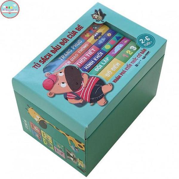 Mua [Siêu giảm giá] Tủ sách đầu đời của bé (Khám phá kiến thức cơ bản) - Crabit Kidbooks - | Misolbooks | sách mầm non - sách thiếu nhi - sách hay cho bé 2-6 Tuổi - Hộp 6 Cuốn - tặng sticker
