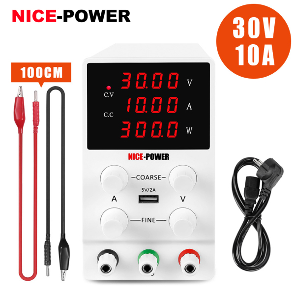 Bảng giá NICE-POWER 0-30 0-10A Adjustable DC power supply,with 5V 2A USB port and Power(W) display,Suitable for repairing electronic parts and Industry, teaching Phong Vũ