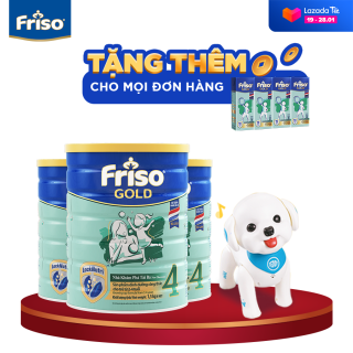 [Freeship toàn quốc] Bộ 3 lon sữa bột Friso Gold 4 1.5kg + Tặng Robot cún con trị giá 690K - HSD 10 2022 thumbnail
