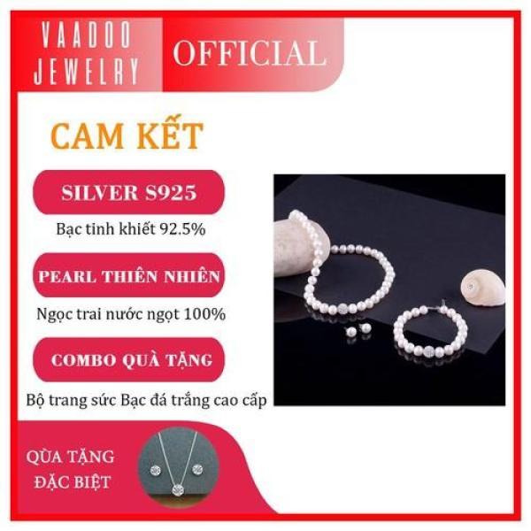 Bộ chuỗi ngọc trai làm quà tặng Thương hiệu Ngọc trai Vaadoo Jewelry - BNT01