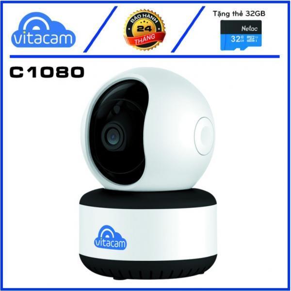 Camera IP Wifi Vitacam C1280 3.0MP FullHD+ 1536P có cổng LAN, hồng ngoại ban đêm, đàm thoại 2 chiều (Trắng) - Phụ Kiện 1986