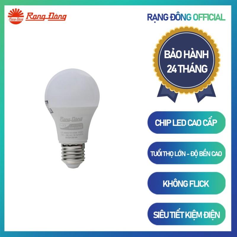 Bóng đèn LED BULB Tròn Rạng Đông 7W Model: A60N3/7W.H
