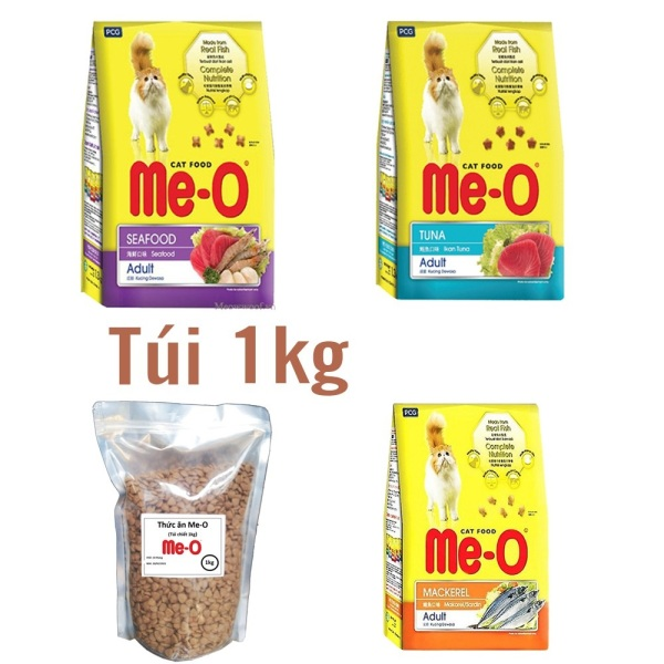 HCM - Gói lớn 1,2kg - thức ăn dạng hạt  cho mèo ME-O (Chọn 3 Vị )  Thức ăn cap cấp Dành cho mèo lớn