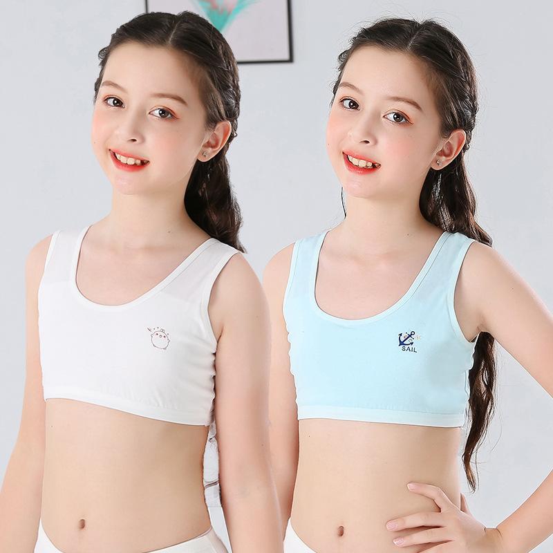 Nơi bán Bộ 5 áo lót học sinh nữ vải cotton dây to bản thích hợp bé gái cấp 2, cấp 3- ao lot hoc sinh nu