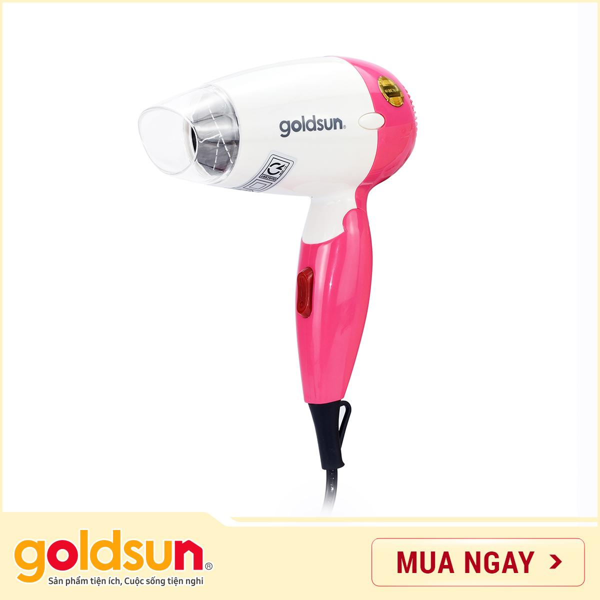 Máy sấy tóc Goldsun 650W HD-GXD850 (Hồng) cao cấp