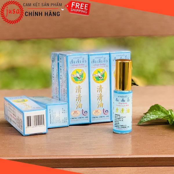 [ Hot Sale ] Combo 3 Dầu Gió Lăn Thái Lan Cheng Cheng Oil 5ml Từ Thảo Dược Nhân Sâm - Junsam